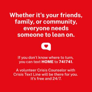 Crisis Text Line Link Connect